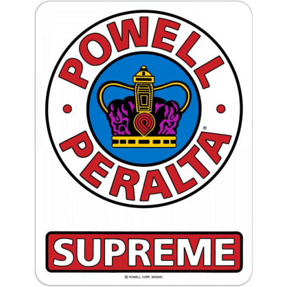 "Powell Peralta - Supreme Medium 3.5"" Sticker"