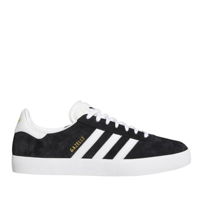 adidas Skateboarding Gazelle ADV Shoes - Core Black / FTWR White / Gold Met