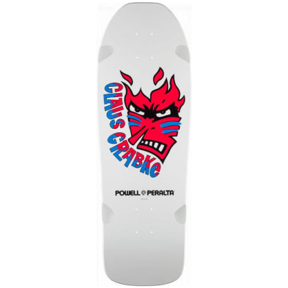 Powell Peralta Claus Grabke Flame Face Re-Issue Skateboard Deck - 10.25