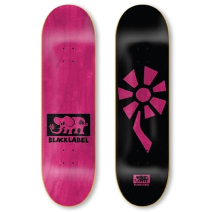 Black Label Skateboards- Flower Power Deck Black 8.25""