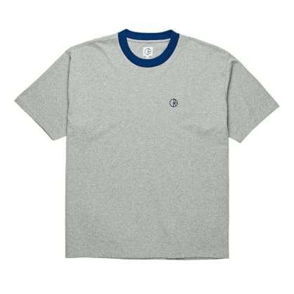 Polar Ringer Tee - Heather Grey/Navy