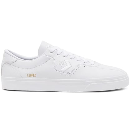 Converse Cons Leather Louie Lopez Pro Skateboarding Shoes - White/White/White