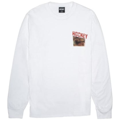 Hockey Skateboards Nail Longsleeve T-Shirt - White