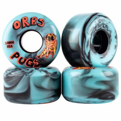 Orbs Wheels Pugs 85A Soft 54mm Blue / Blue