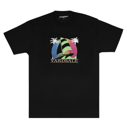 Yardsale Sail Boat T-Shirt - Black