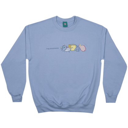 Frog Skateboards Peaceful Block Logo Crewneck - Sky Blue