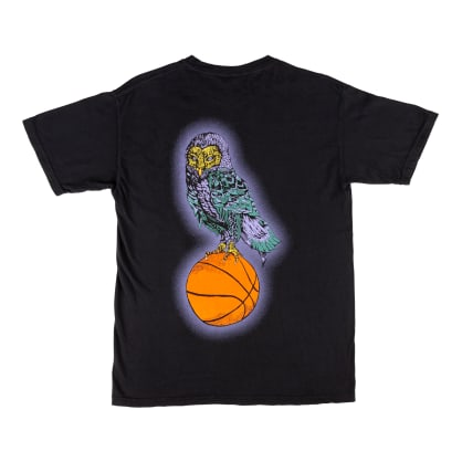 Welcome Skateboards Hooter Shooter Garment Dyed T-Shirt - Black