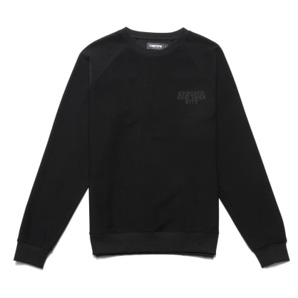 Chrystie NYC - Reversed French Terry crewneck_Black