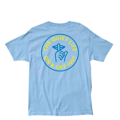 The Quiet Life - Shhh Circle Tee - Light Blue