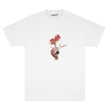 Yardsale Red Rose T-Shirt - White