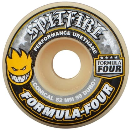 Spitfire Formula Four 54mm 99A Conical Wheels (Yellow Print)