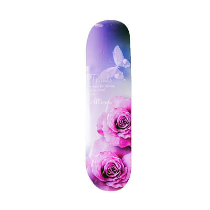 Alltimers Thank You Zered Skateboard Deck - 8.25""