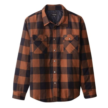 Bowery Lined Flannel - Navy/Copper
