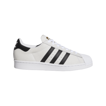 adidas Superstar ADV Skateboarding Shoes - White/Black/Gold