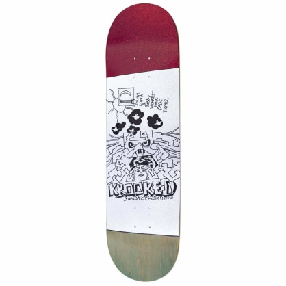 Krooked Worrest Truths Twin Tail Skateboard Deck - 8.3""