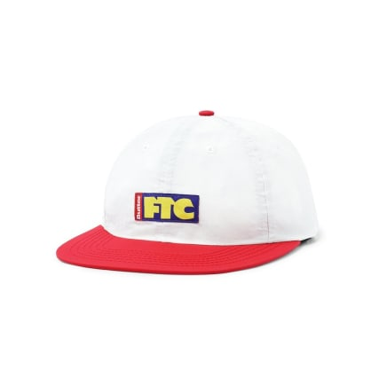 Butter Goods FTC Flag 6 Panel Cap - Off White / Red