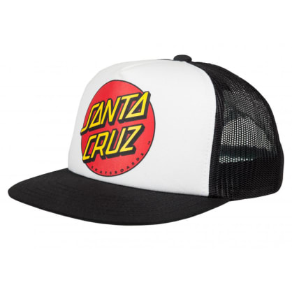 Santa Cruz - Classic Dot Youth Hat - White / Black