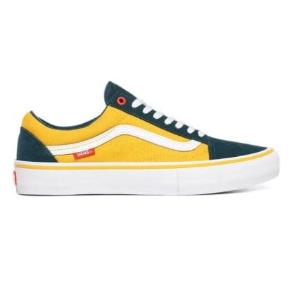 Vans Old Skool Pro Shoes (Prime) Atlantic/Gold