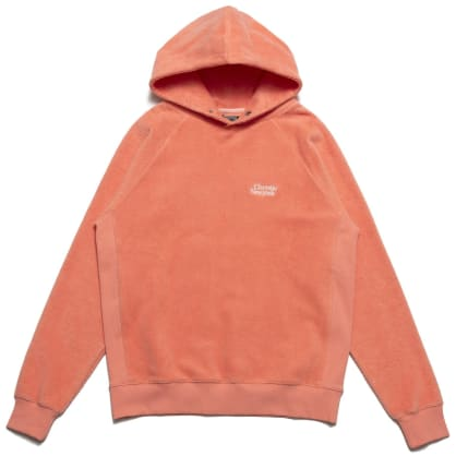 Chrystie NYC PRM Reversed Fleece Hoodie - Coral
