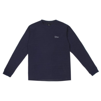 Dime Thermal Long Sleeve Shirt - Navy