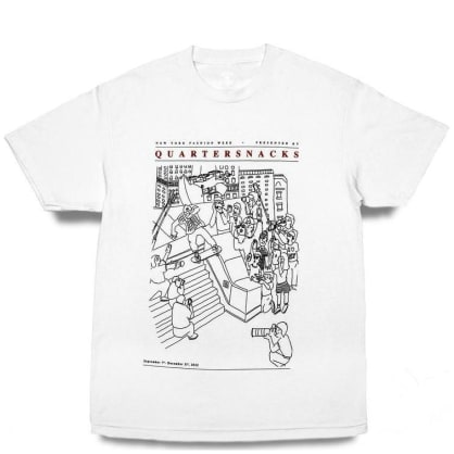 Quartersnacks Presented By... T-Shirt - White