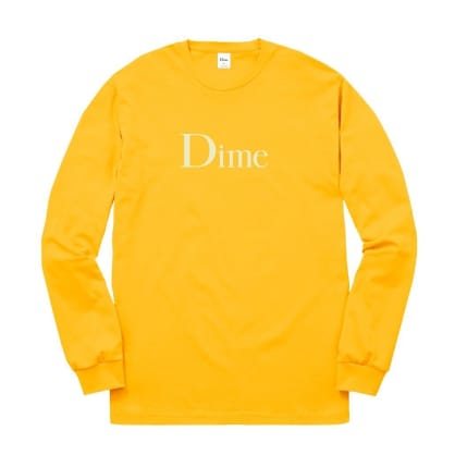 Dime Classic Logo Long Sleeve T-Shirt - Gold