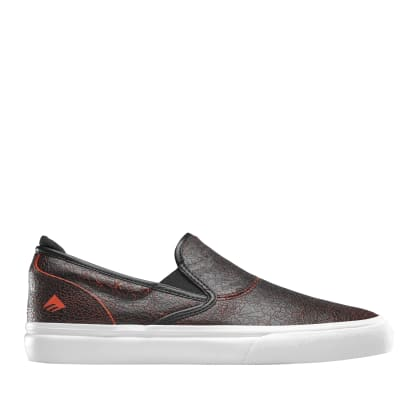 Emerica Wino G6 Slip-On Skate Shoes - Black / Red / White