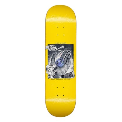 Fucking Awesome Worry Skateboard Deck Yellow - 8.38""