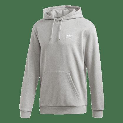 adidas Trefoil Essentials Hoodie - Medium Heather Grey