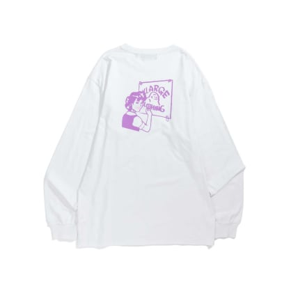 "X-LARGE - ""SMOOTH PAINTHER LONG SLEEVE T-SHIRT"" (WHITE)"