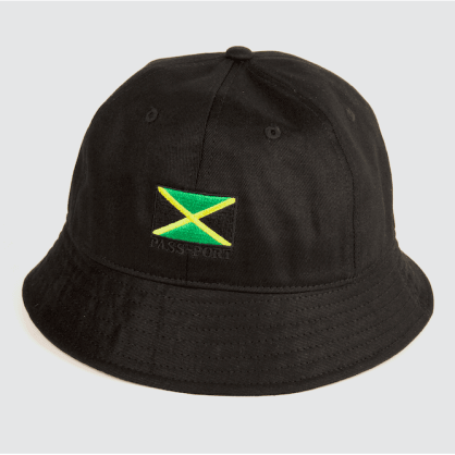 Pass-Port Jamaica Canvas Bucket Hat - Black