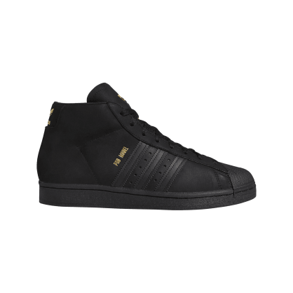 adidas Pro Model Skateboarding Shoe - Core Black/Gold Met/FTWR White