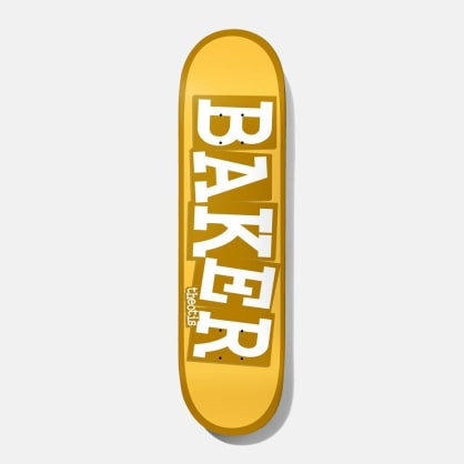 Baker Skateboards Theotis Ribbon Name Yellow B2 Skateboard Deck - 8.38""