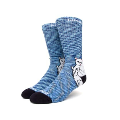 Rip n Dip Lord Nermal Socks - Navy Speckle