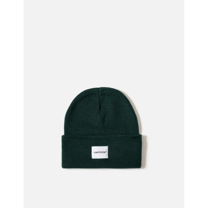 CARTOCON Rib Patch Beanie – Forest Green