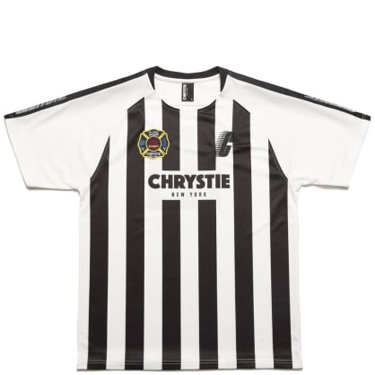 Chrystie NYC Stripe Soccer Jersey T-Shirt - White / Black