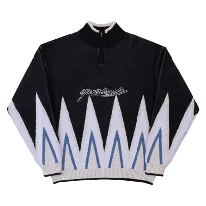 Yardsale Blaze Knit Quarterzip - Black