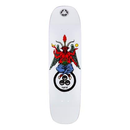 Welcome Skateboards Ryan Lay Bapholit on Stonecipher Skateboard Deck White - 8.6""
