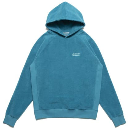Chrystie NYC PRM Reversed Fleece Hoodie - Teal Green