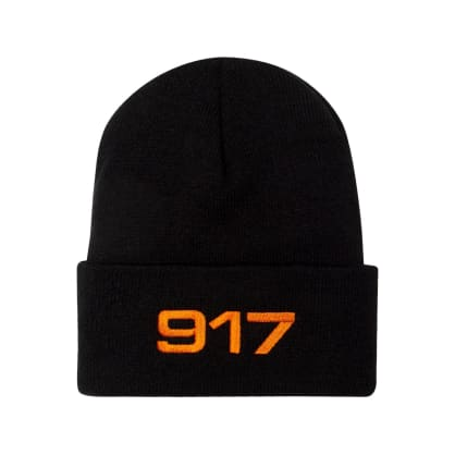 Call Me 917 Racing Beanie - Black/Orange