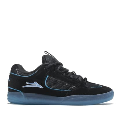 Lakai Carroll Suede Skate Shoes - Black / Blue
