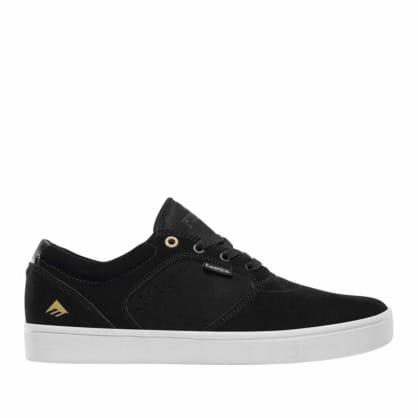 Emerica Figgy Dose Skate Shoes - Black / White / Gold