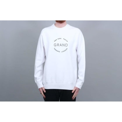 Grand Collection Cities Crewneck - White