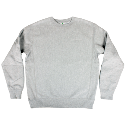 Heartthrobs Cross Weave Logo Crewneck Ash
