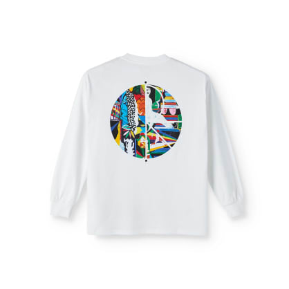 Polar Skate Co Memory Palace Fill Logo Long Sleeve T-Shirt - White