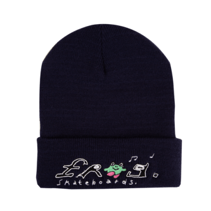 Frog Skateboards Happy Frog Beanie - Navy