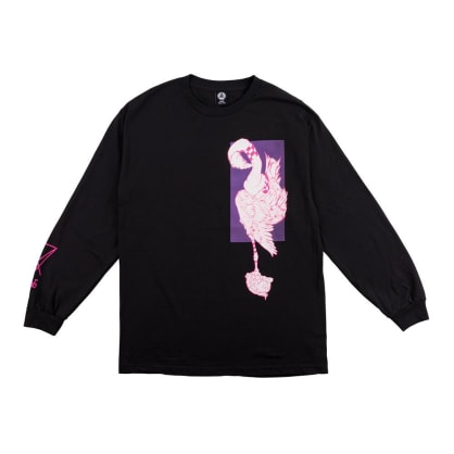 Welcome Rubberneck Long Sleeve T-Shirt - Black-Purple-Pink