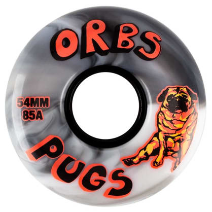 Welcome Skateboards - Welcome Skateboards Orbs Wheels 85A Soft Black & White | 54mm