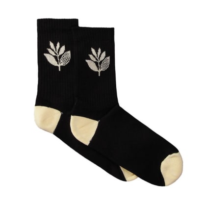 Magenta Mid Socks - Black-Pale Yellow
