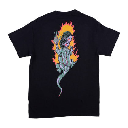 Welcome Skateboards Komodo Queen T-Shirt - Black